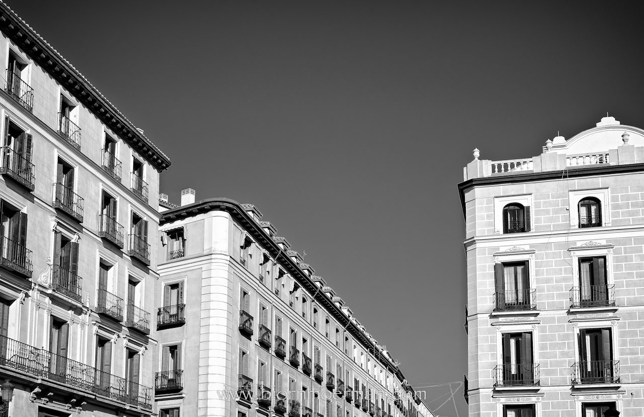 Madrid facades near Plaza Major