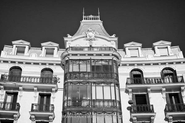 Facade at Plaza de Oriente