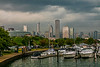 USA; Chicago; Burnham Harbor; Chicago Skyline; Illinois