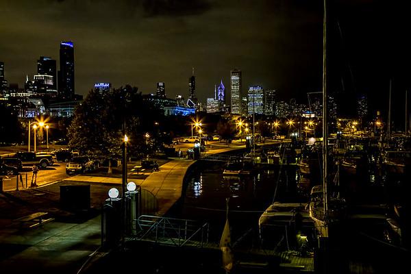 USA; Illinois; Chicago; Chicago Skyline; Burnham Harbor
