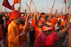 Religious parade. Maha Kumbh Mela 2013, Allahabad, India