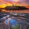 Tide Pool and Sunrise, Nubble Lighthouse York Maine