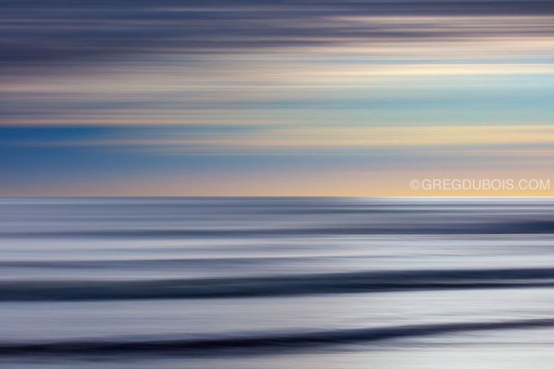 Winthrop Beach Waves Abtract with Sunrise Sky and Pan Motion