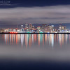 Boston Skyline at Night from Winthrop Massachusetts