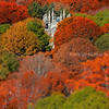 Bigelow Chapel at Mount Auburn Cemetery Surrounded by Fall Trees in Cambridge Massachusetts