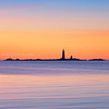 The Graves Light Station at Sunrise from Deer Island in Boston Massachusetts
