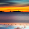 Cape Ann Twin Lights Sunrise from Long Beach Rockport Massachusetts