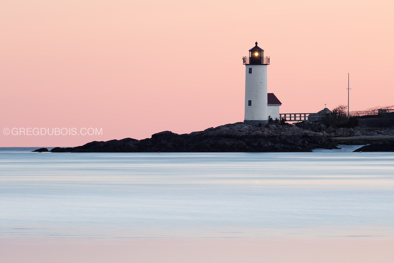 Annisquam Lighthouse Sunrise from Wingaersheek Beach in Gloucester Massachusetts