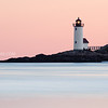 Annisquam Lighthouse Sunrise from Wingaersheek Beach in Gloucester Massachusetts