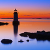 Fort Pickering Light Silhouette at Sunrise in Salem Massachusetts