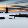 Fort Pickering Light in Salem Massachusetts at Dawn