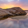 Wingaersheek Beach Sunrise with Sea Rock and Tide Pool in Gloucester Massachusetts