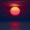 Pink Sun Rises with Reflection over Winthrop Beach