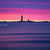 Graves Lighthouse from Winthrop Beach Massachusetts with Stormy Sunrise Panning