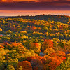Powwow Hill in Amesbury Massachusetts New England Fall Colors in Rolling Hills of Merrimack Valley at Sunrise