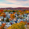 Quaint New England Town with Autumn Trees during Fall on Boston's North Shore