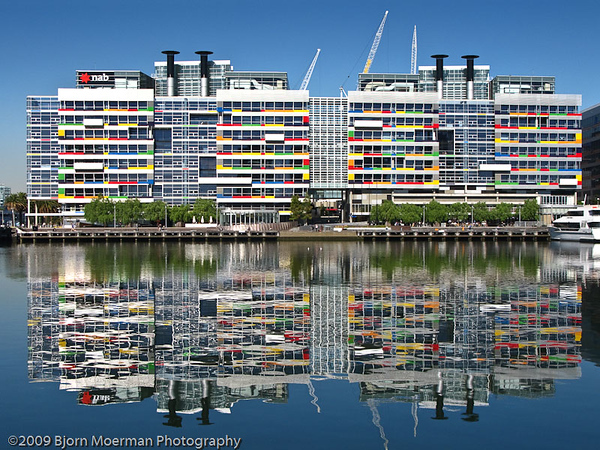 Harbour reflection NAB Building, Melbourne, Australia