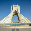 TEHRAN, IRAN - OCTOBER 02, 2014: Azadi Tower in the Iranian capital Tehran