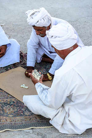 Iranian fishermen playing domino