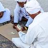 Iranian fishermen playing domino