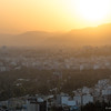 cityscape of Shiraz at sunset