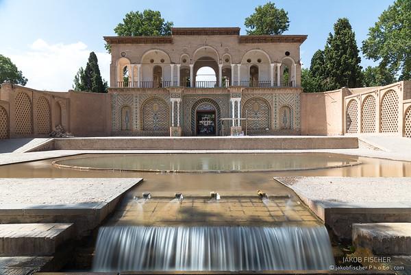 MAHAN, IRAN - SEP 12, 2016: Shazdeh Garden of Mahan, Iran - one of the UNESCO world heritage sites