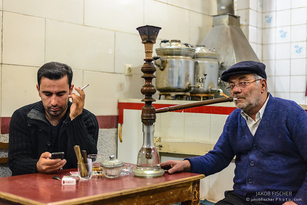 Iranians in a teahouse