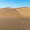 """sand dunes in the desert """"Dasht-e Kavir"""" at sunset in Iran"""