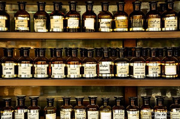perfume vials on a bazaar in Syria 2009