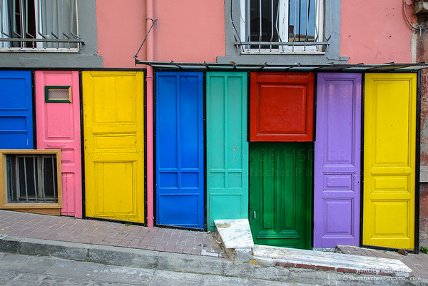 colorful facade in old city of Istanbul