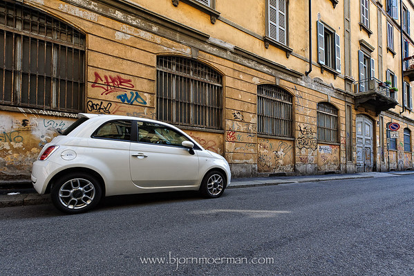 Fiat 500 at home