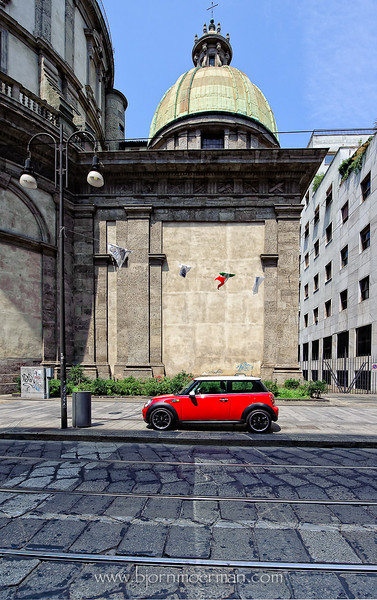 Small car in a big city