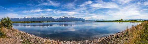Montana; USA; St. Ignatius; Ninepipe National Wildlife Refuge; Lake County; Ninepipe Reservoir