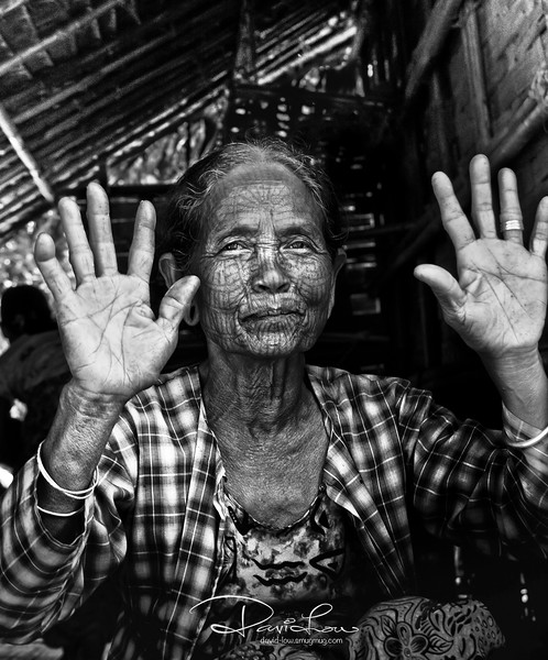 Chin tribe 1 -  her palm life lines indicate she has many more years to live. Long live the Chin tribes !