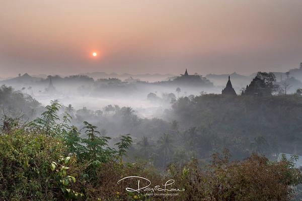 Sunrise at U Mrawa Paya.