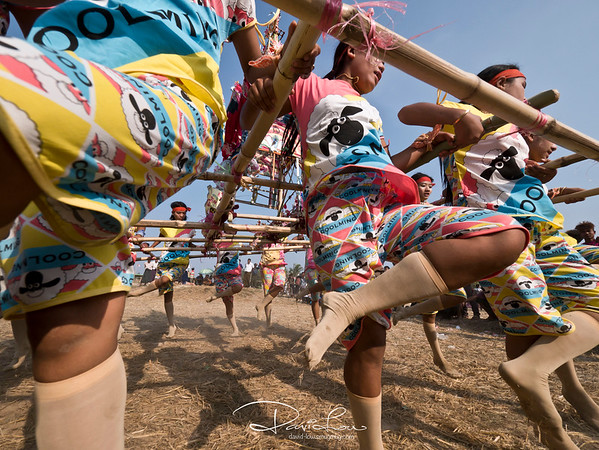Celebration dance for the passing of an abbot at Parabaw village. The dance is known as Talor Arka  (coffin dance).