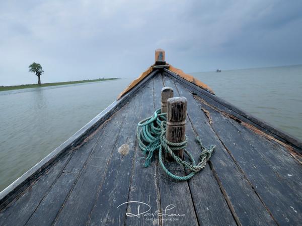 Boat journey to Mrauk U.