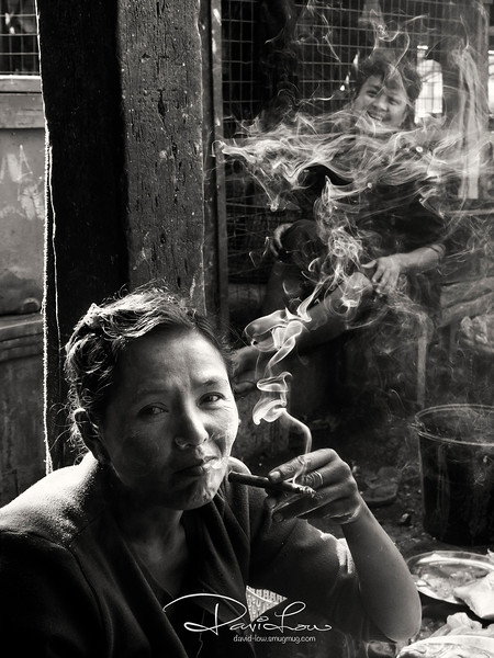 A vendor at Sittwe market, Mrauk