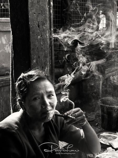 A vendor at Sittwe market.