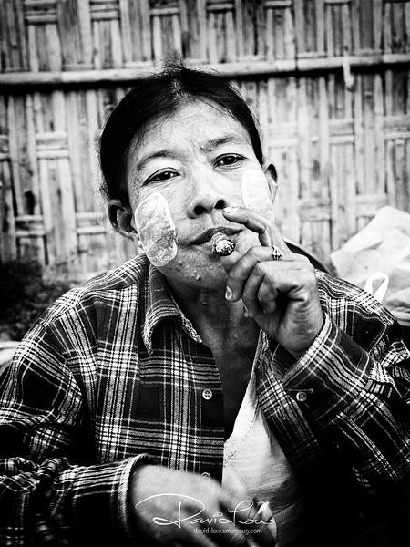 A vendor at Mrauk U Central Market.