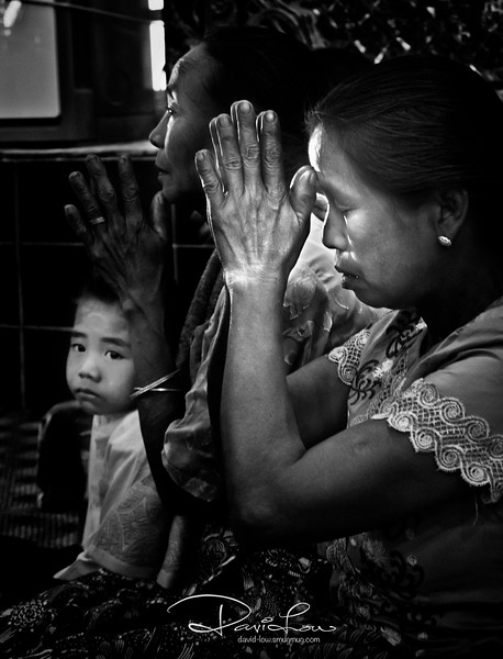 Please bless my son - Mahamuni Paya Temple.