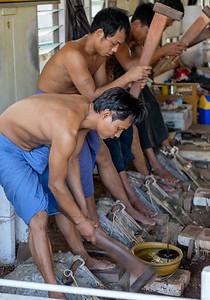 Hard labour at the King Galon goldleaf workshop