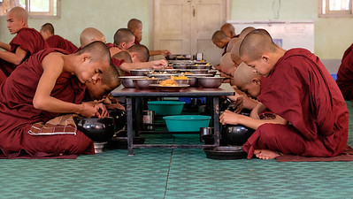 Lunch at the monastery near Bagan