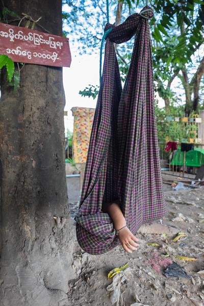 Sleeping baby, Yangon