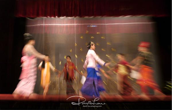 Cultural dance in Myanmar