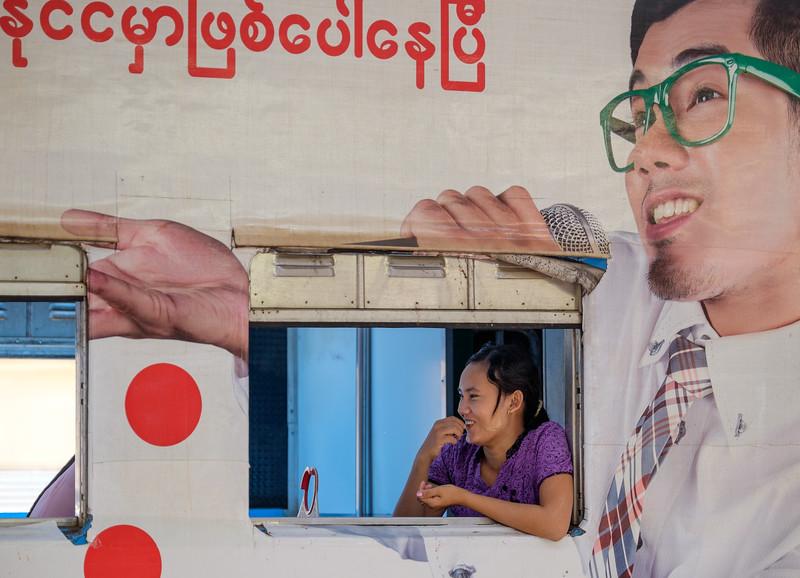 Circular train passenger, Yangon