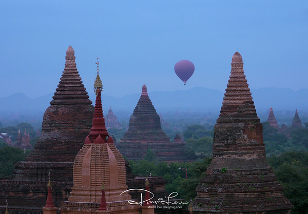 Blue morning at Bagan