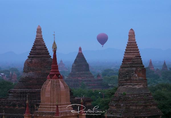 Blue morning at Bagan
