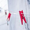 Red Clothespins, Mykonos, Greece