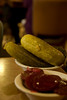 I had ordered Pastrami and asked for extra pickles.  I got 3 huge pickles. Yumm!